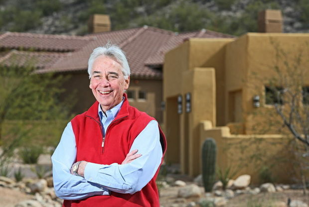 Pepper Viner Homes owner Bill Viner is overseeing construction of several new communities, including StoneBridge in the Foothills. - Ron Medvescek / Arizona Daily Star