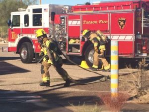 Firefighters get this kind of training only a handful of times a year. (Source: KOLD News 13)