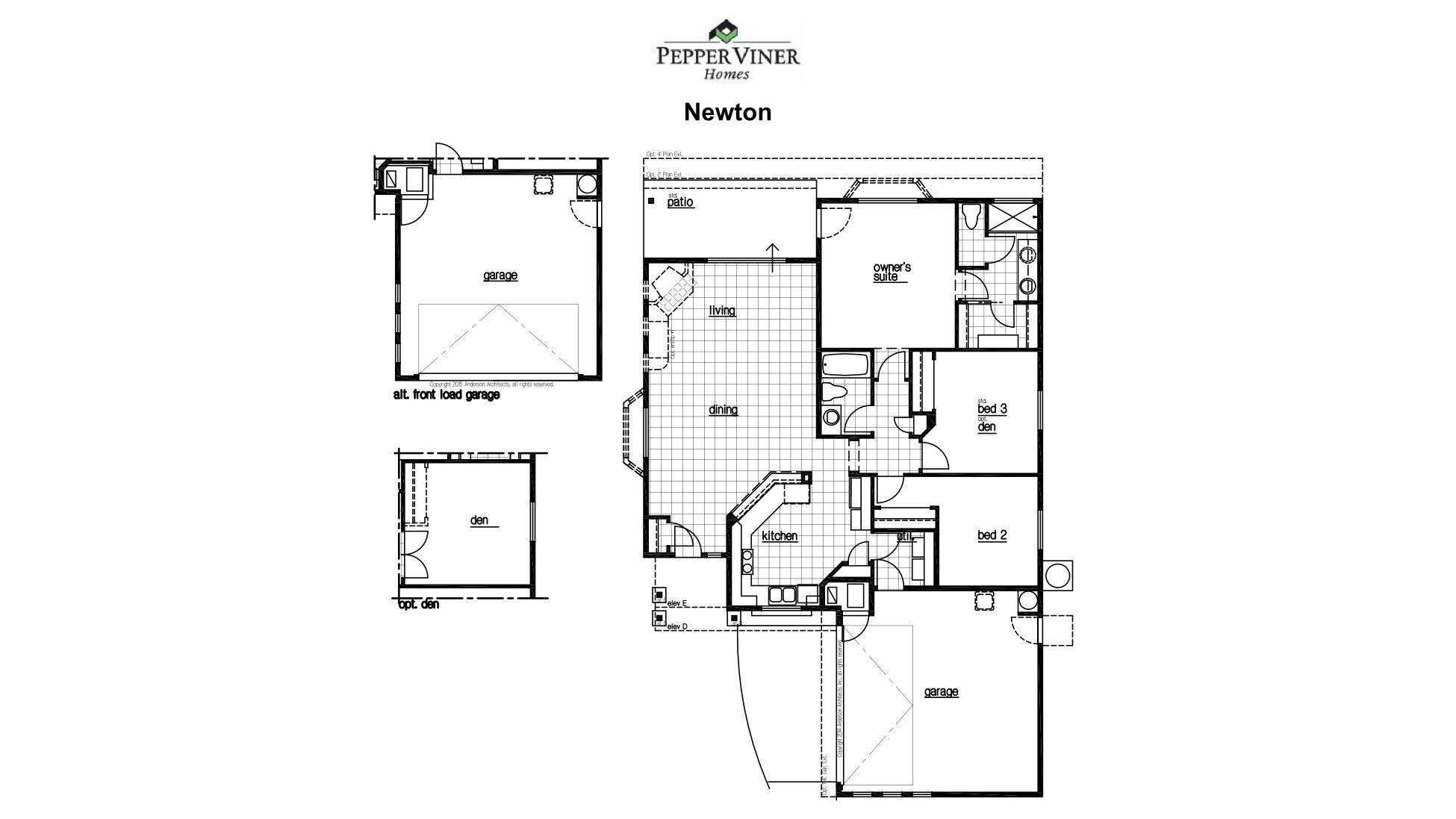 Elementary place floor plans pepper viner homes for House plans tucson